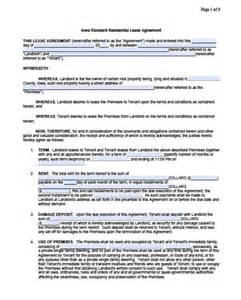 free iowa residential 1 year lease agreement pdf