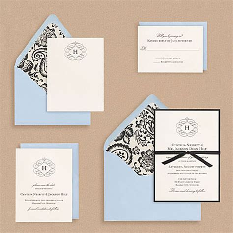 monogram wedding invitations flourish monogram wedding invitations invitation crush