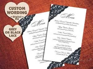 posh menu template printable black lace menu design pdf diy by thescarletsagetree