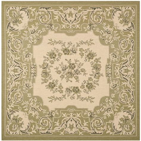 6 Square Area Rug Safavieh Courtyard Green 6 Ft 7 In X 6 Ft 7 In Indoor Outdoor Square Area Rug Cy7208