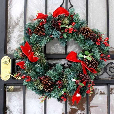outdoor christmas wreath ideas pinterest