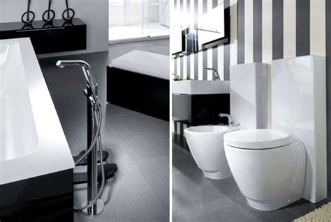 modern bathroom black and white modern black and white bathroom design from noken digsdigs