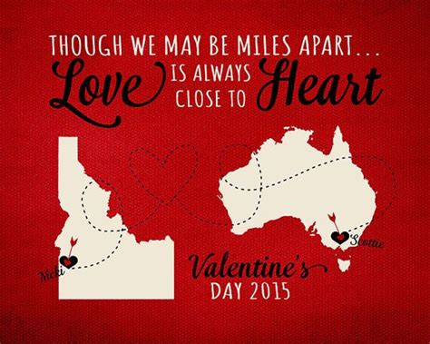 distance valentines gifts distance distance and day gifts on