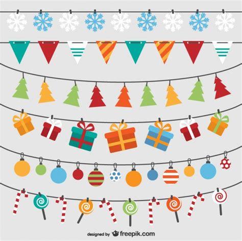 imagenes vectoriales de navidad gratis pack de banderines de navidad descargar vectores gratis