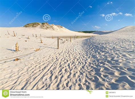 moving dunes  baltic sea  leba stock image image