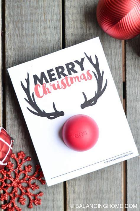printable eos christmas cards eos lip balm christmas printable gift balancing home