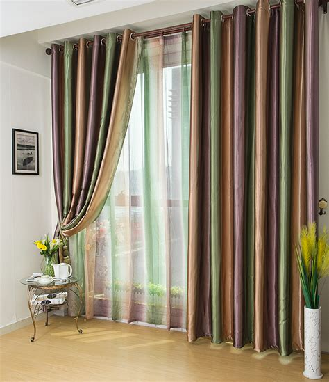 curtains for a living room free shipping european style window curtains stripes for