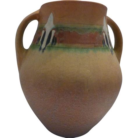 Rosewood Pottery Vase by Roseville Pottery Quot Montacello Quot Vase From Suzieqs On Ruby