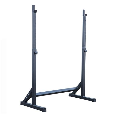 bench press on squat rack adjustable squat rack stand barball free press bench