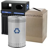 decorative recycling containers for home rubbermaid metal recycling bins