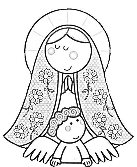 imagenes de la virgen maria faciles dibujos religiosos para colorear buscar con google