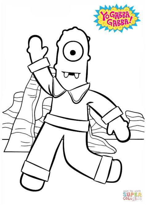 yo gabba gabba coloring pages games muno says hi coloring page free printable coloring pages