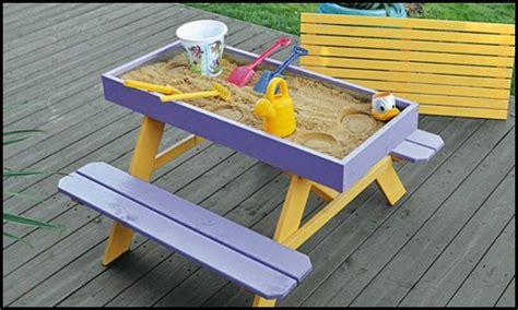picnic table sandbox how to build a picnic table and sandbox combo diy