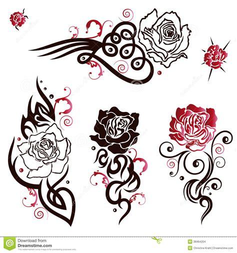 imagenes de rosas trival rosas tatuagens imagens de stock imagem 38464204