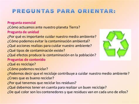 preguntas de investigacion medio ambiente proyecto cuidando nuestro medio ambiente
