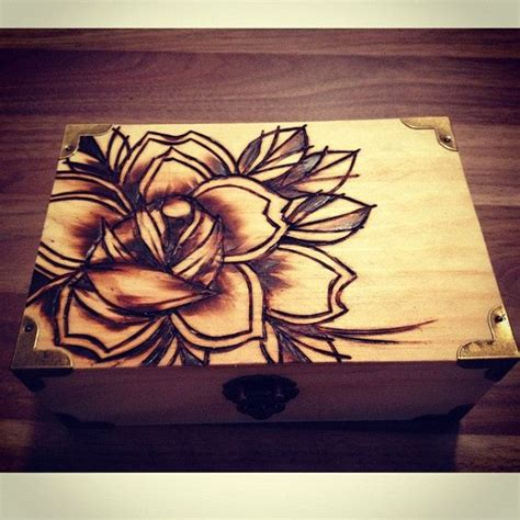 keepsake tattoo woodburnt keepsake box by caspermugridge