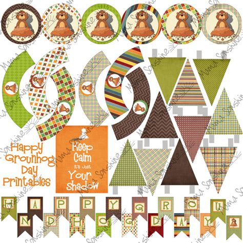groundhog day decorations printable groundhog day decorations sonshine