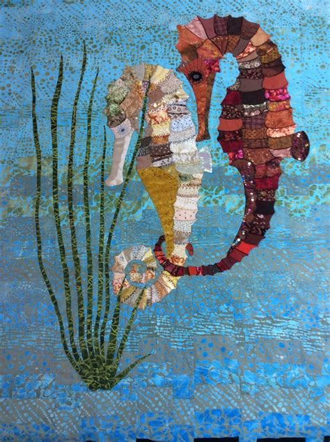 fabulous seahorse quilt being made by falkous the