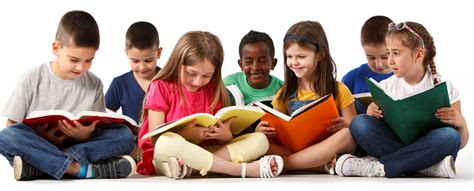 picture of children reading books booksicals reading through the arts program for