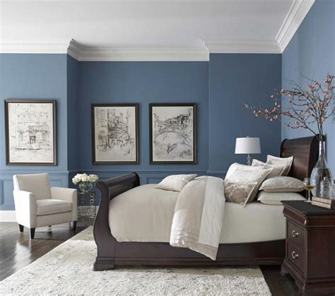 blue color schlafzimmer pretty blue color with white crown molding blue