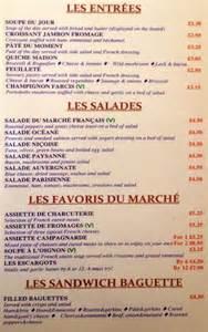 French Cafe Table by Le Marche Francais Menu Menu For Le Marche Francais West
