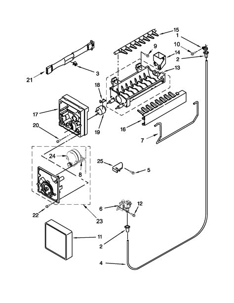 kenmore maker parts diagram maker diagram parts list for model 10672159111
