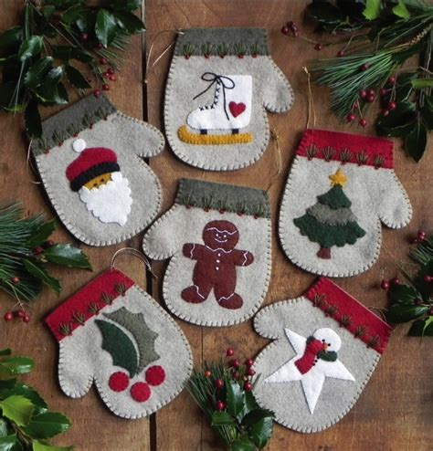 free felt christmas ornament patterns felt christmas