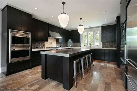 dark wood floors in kitchen