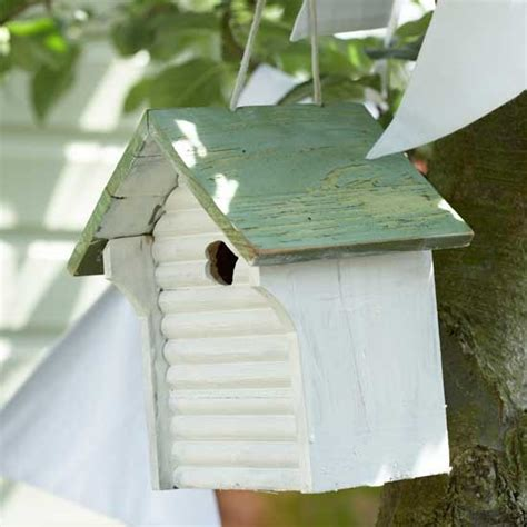 simple bird house and bunting vintage garden ideas