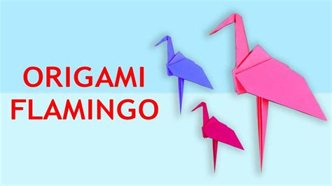 How To Make A Flamingo Out Of Paper - how to make origami flamingo origami flamingo