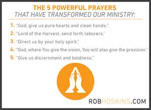 The 5 most powerful prayers at our ministry