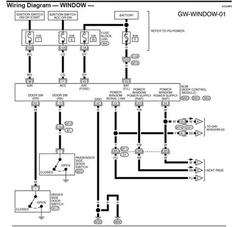 wiring diagram power window panther k