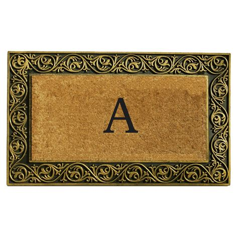 Doormats With Initials by Home More Prestige Gold Monogram Doormat 18 X 30 In