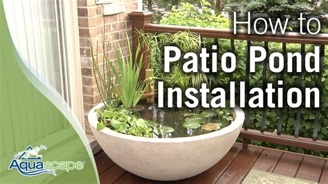 aquascape patio pond how to create an easy container water feature with