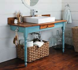 Second Hand Bathroom Cabinets - how to build a bathroom vanity from an old dining table makely