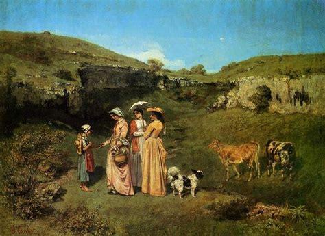 imagenes realistas de gustave courbet quot mulheres jovens da vila quot 243 leo por gustave courbet 1819