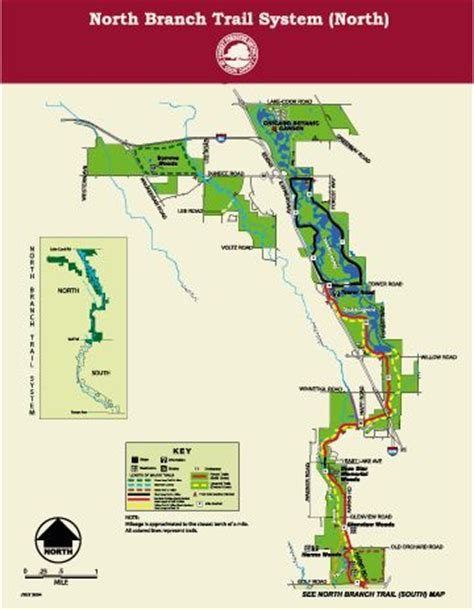 chicago botanic garden map branch trail system map section from golf