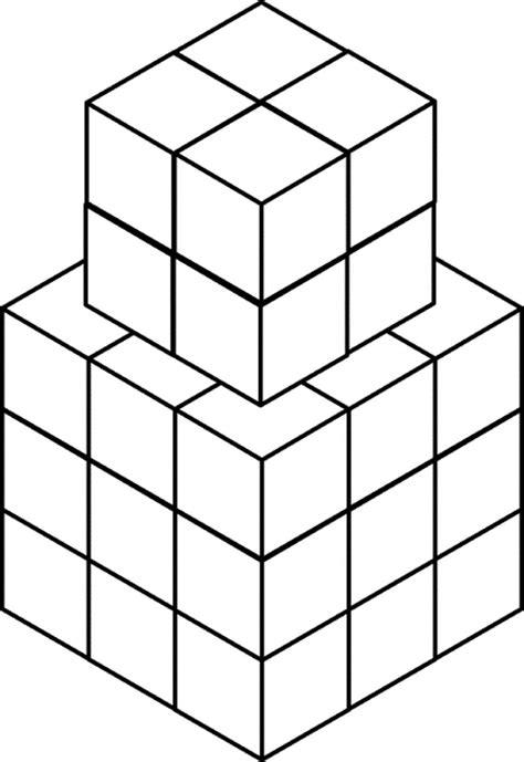 35 stacked congruent cubes clipart etc