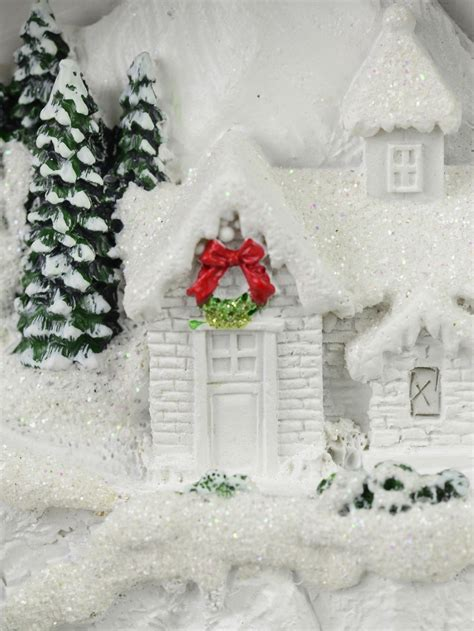 illuminated animated ice skating winter christmas eve scene cm ornaments buy