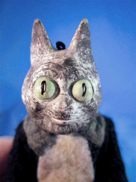 bisque cat doll antique bug eyed 5 quot german bisque cat doll great character