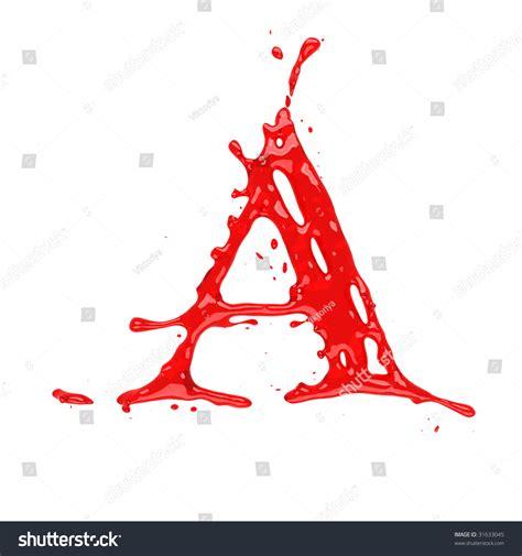 Letter With Blood Blood Liquid Alphabet Letter A Stock Illustration 31633045