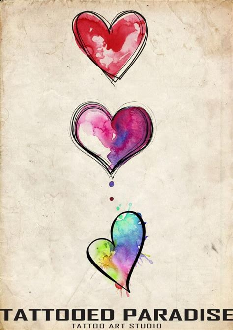 watercolor heart tattoo watercolor