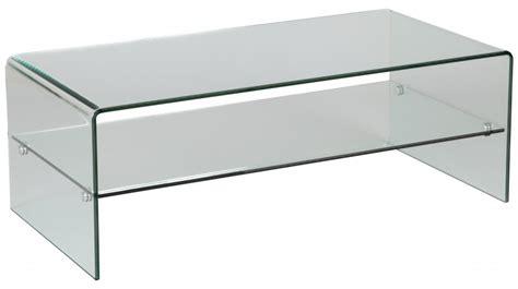 tables basses en verre design table basse rectangulaire en verre 1 rayon table basse design en verre