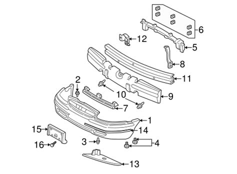 2004 buick century parts bumper components front for 2004 buick century