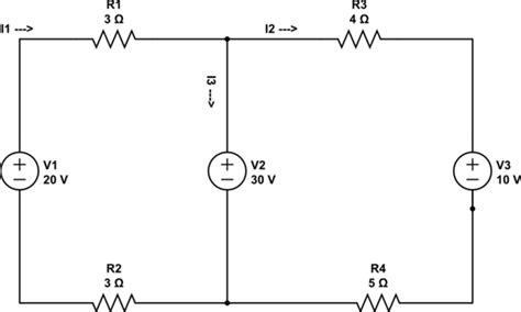 capacitors kirchoff s resistors kirchhoffs with 3 voltage sources electrical engineering stack exchange