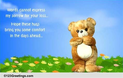 Message For Comforting A Friend Hugs And Sympathy Quotes Quotesgram