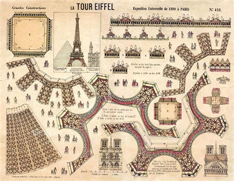 printable paper models eiffel tower paper model to print out diy crafts