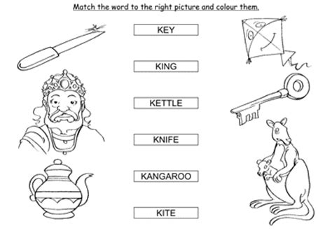 match the words starting with k