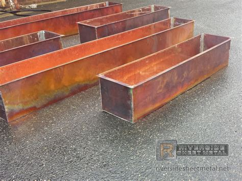 Copper Planter Boxes by Custom Burnished Rustic Copper Flower Boxes Shipping Available