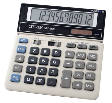 Kalkulator Citizen Sdc 868 L Up Calculation sdc 868l citizen calculator